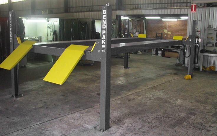HD-9STX Four-Post Hoist - Tall Lift and Narrow Width - BendPak