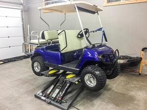 Golf Cart Lifted BendPak Mid Rise Lift