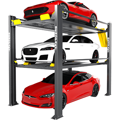 HD-973P 9,000 and 7,000 Lb. Capacity / Tri-Level Parking Lift / SPECIAL ORDER / PATENT PENDING