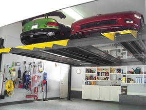 Home Garage BendPak Double Wide Storage Hoist