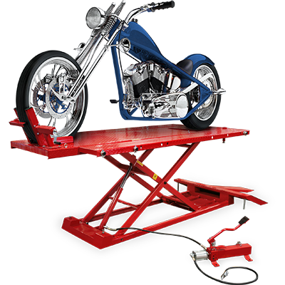 RML-1500XL Motorcycle Hoist Platform with Front Wheel Vise / Deluxe Extended