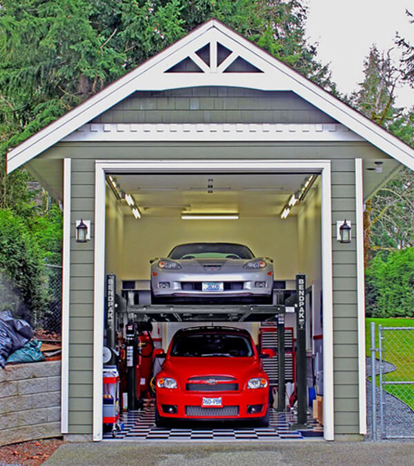 Four-Post Hoist Home Garage Storage