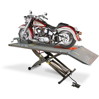 RML-600XL Motorcycle Hoist Table Complete Wide Side and Front Extended
